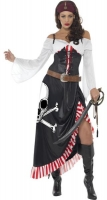 Ladies  Pirate Swashbuckler Fancy Dress Costume