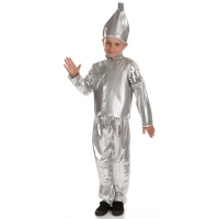 Childrens Tin Boy Fancy Dress Costume World Book Day outfit