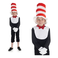 Childrens Mr Tom Cat In The Hat Fancy Dress Costume World Book Day outfit
