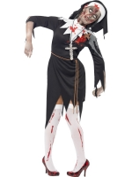 Ladies Halloween Fancy Dress Costume zombie bloody sister Mary
