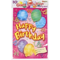 Giant pink birthday girl party loot bags pack of 6 goodie bags