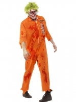 Mens Halloween Zombie Death Row Inmate Costume