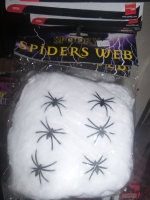 Halloween Spider Web and Pack of 6 Spiders