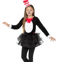 Childrens Girls Dr. Seuss Cat in the Hat Fancy Dress World Book Day Costume