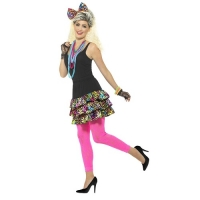 Ladies 1980's 80s Girl Fancy Dress Costume