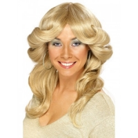 Blonde Charlies Angels 1970's style Flick Wig