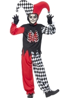 Boys Halloween Blood curdling Jester Costume