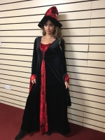 Halloween Red Witch Hire Costume