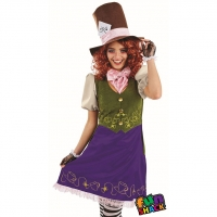 Ladies Miss Hatter World Book Day Fancy Dress Costume