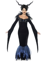 Ladies Maleficent Halloween lady raven dress