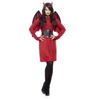 Ladies Halloween Twisted Harlequin Fancy Dress Costume