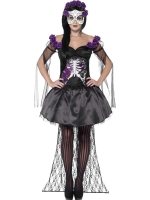 Ladies Halloween day of the dead senorita dress