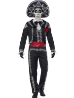 Mens Halloween Costume day of the dead senor bones