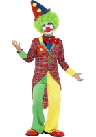 Kids Tartan Clown Costume