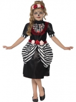 Girls halloween Fancy Dress Sugar Skull Dress Costume