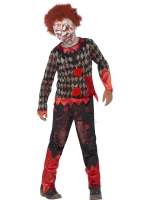 Boys Halloween zombie Clown Fancy Dress Costume