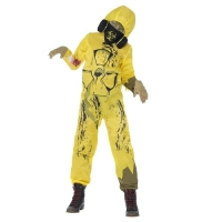 Boys Halloween zombie convict Fancy Dress Costume