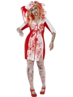 Ladies Halloween Costume zombie curves nurse dress