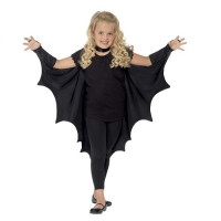 Black Vampire Bat Wings Cape