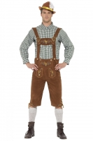 Mens Deluxe Traditional Hanz Bavarian Fancy Dress Costume