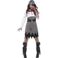 Halloween Fancy Dress Zombie Pirate Lady Costume