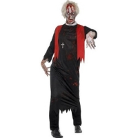 Mens Halloween Fancy Dress Zombie High Priest Costume