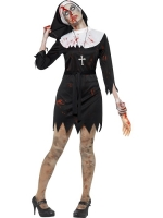 Ladies Halloween Fancy Dress Zombie Sister Costume
