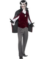 Mens Halloween Fancy Dress Vampire Costume