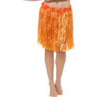 Adult Grass Hawaiian Hula Skirt orange
