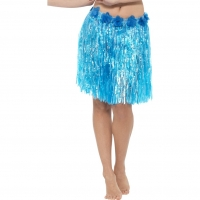 Adult Grass Hawaiian Hula Skirt blue