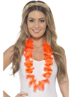 Hawaiian Hula Lei Necklace orange