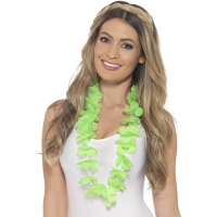 Hawaiian Hula Lei Necklace Green