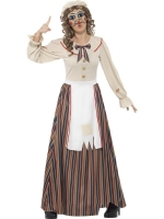 Ladies Halloween Fancy Dress Possessed Puppet Judy Costume