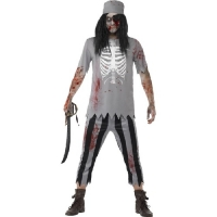 Mens Halloween Fancy Dress Zombie Pirate Costume