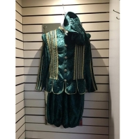 Mens Historical Green Medieval Hire Costume