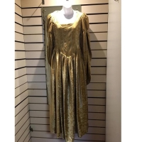 Ladies Historical Medieval Gold Dress Hire Costume