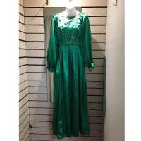 Ladies Historical Green Victorian Dress Hire Costume