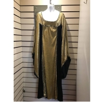 Ladies Historical Gold And Black Dress Hire Costume