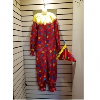 Mens / Ladies Novelty Clown Hire Costume