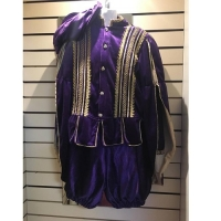 Mens Historical Purple Medieval Hire Costume