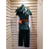 Mens Historical Green Medieval Robin Hood Hire Costume