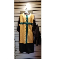 Mens Historical Green And Yellow Knight Medieval Hire Costume