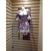 Ladies Historical Victorian Purple Dress Hire Costume