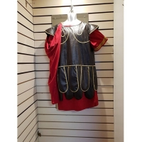 Mens Historical Black Roman Soldier Hire Costume