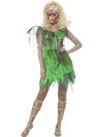 Ladies Halloween Fancy Dress Zombie Tinkerbell Fairy Costume