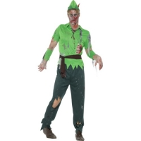 Mens Halloween Zombie Peter Pan Lost Boy Fancy Dress Costume