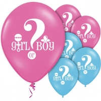 Baby Shower Gender Reveal Pink And Blue Balloons Party Decoration