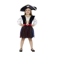 Deluxe Glitter Girls Pirate Fancy Dress Costume