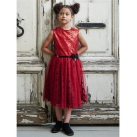 Girls Party Dress Disney Boutique Minnie Mouse Glitter Sequin Dress