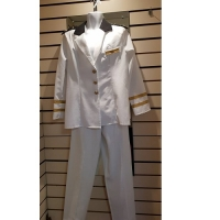 Mens White Officer Hire Costume
